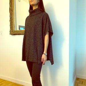 Stylish cowl neck cape sweater